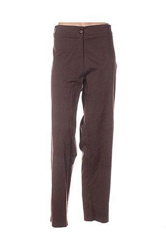 biluzik pantalons femme de couleur marron