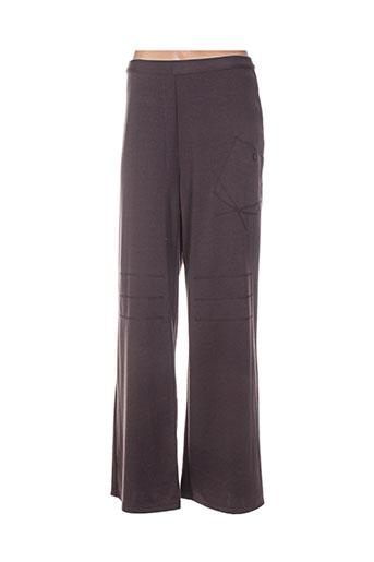 daniel amaury pantalons femme de couleur marron
