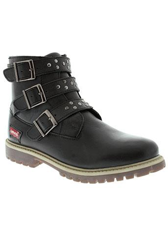 levis chaussures garçon de couleur noir