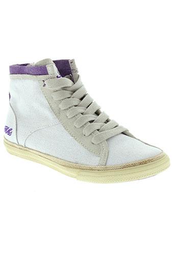 ikks chaussures enfant de couleur blanc
