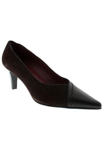 pomares et vazquez escarpins femme de couleur marron