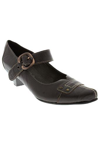 geo-reino chaussures femme de couleur marron