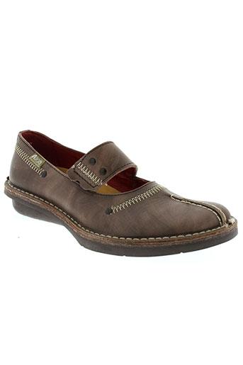 nice chaussures femme de couleur marron