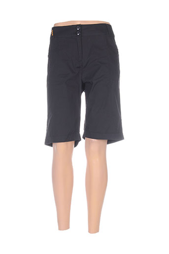 thalassa shorts / bermudas femme de couleur noir