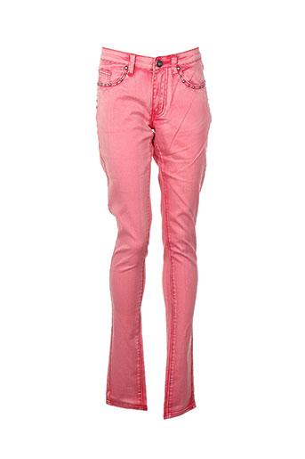 vila jeans femme de couleur rose