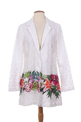 niza manteaux femme de couleur blanc