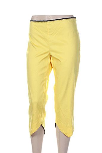 lo! les filles pantacourts femme de couleur jaune