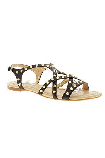 pretty nanã chaussures femme de couleur noir