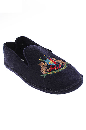 arthur chaussons homme de couleur bleu