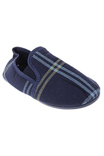 arthur chaussons garcon de couleur bleu
