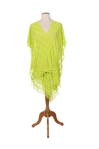 kiwi ponchos femme de couleur vert