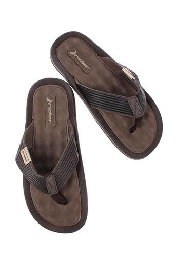 rider et sandals tongs homme de couleur marron