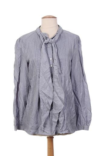 veto chemises femme de couleur bleu