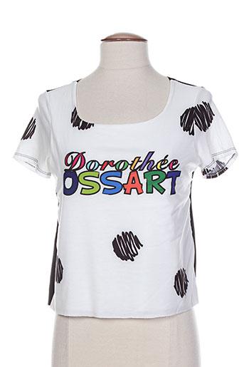 T-shirt manches courtes noir DOROTHEE OSSART pour femme