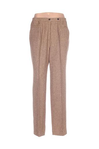 mary west pantalons femme de couleur marron