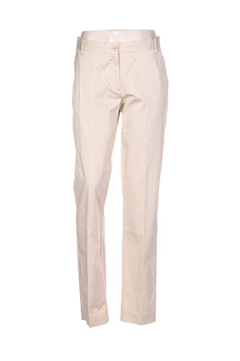 gant pantalons femme de couleur beige