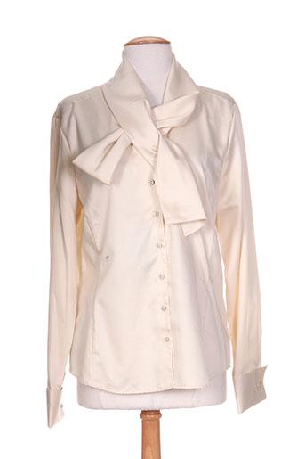 eterna chemises femme de couleur beige