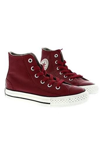 converse chaussures enfant de couleur rouge