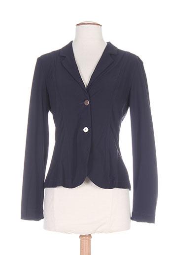 platine collection vestes femme de couleur bleu