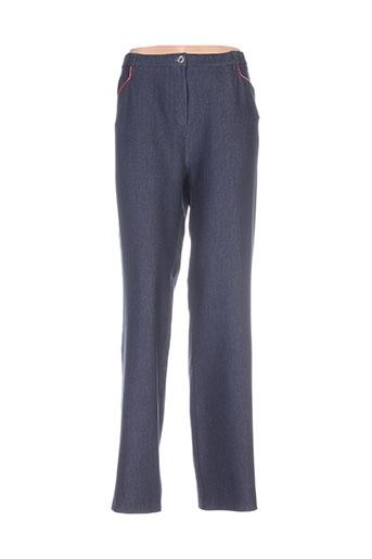 parisiennes pantalons femme de couleur bleu