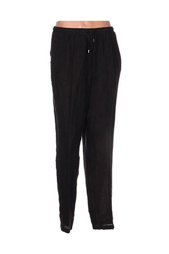 ko.moda pantalons femme de couleur noir