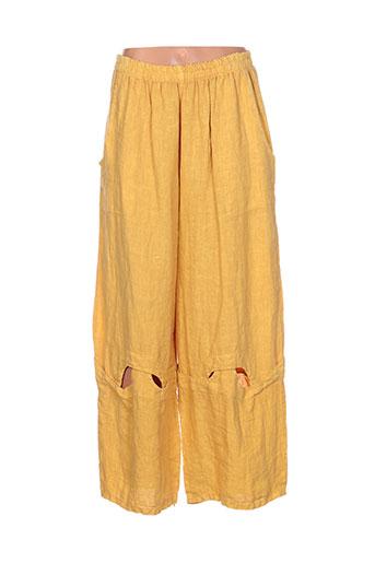 sabini pantalons femme de couleur jaune