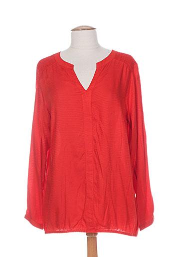 ciso chemises femme de couleur rouge
