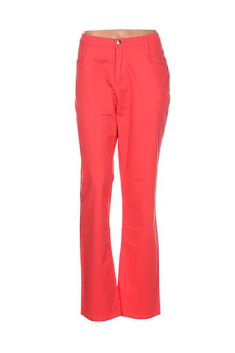 i.quing pantalons femme de couleur orange