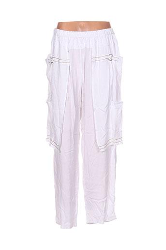 batistame pantalons femme de couleur blanc