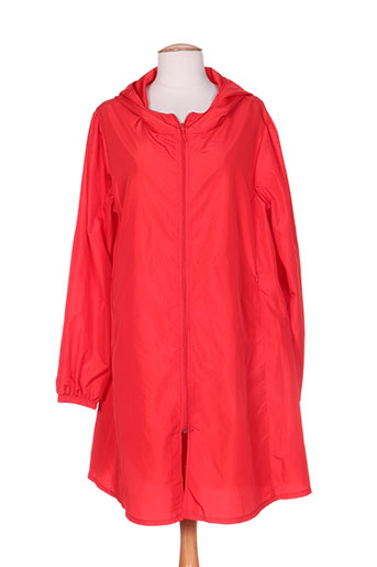 maloka manteaux femme de couleur rouge