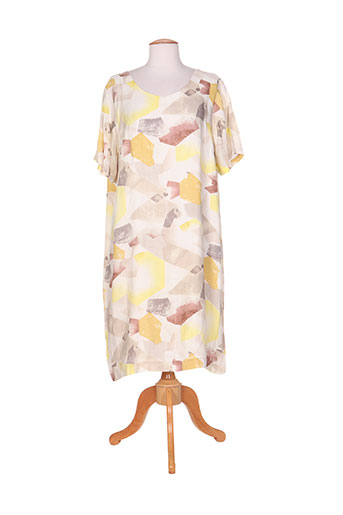 ciso robes femme de couleur jaune