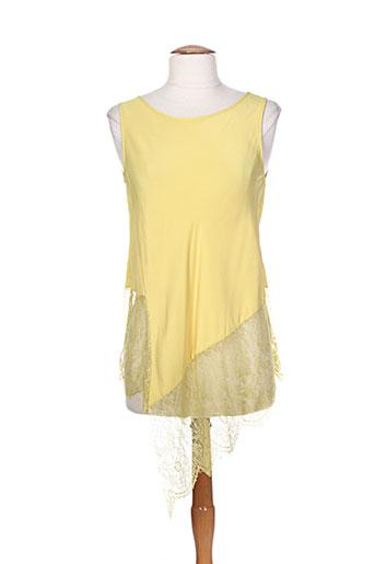 vanise chemises femme de couleur jaune