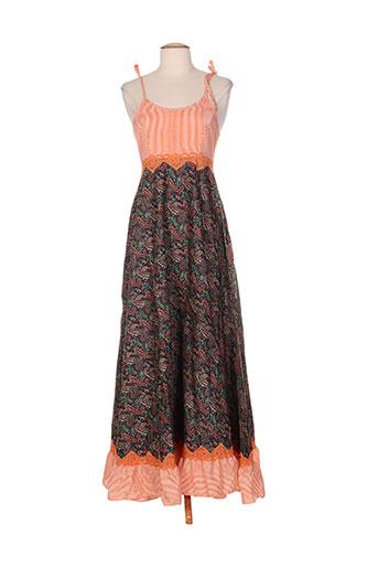 zoe la fee robes femme de couleur orange