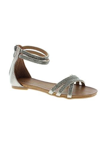kharisma sandales et nu et pieds femme de couleur gris