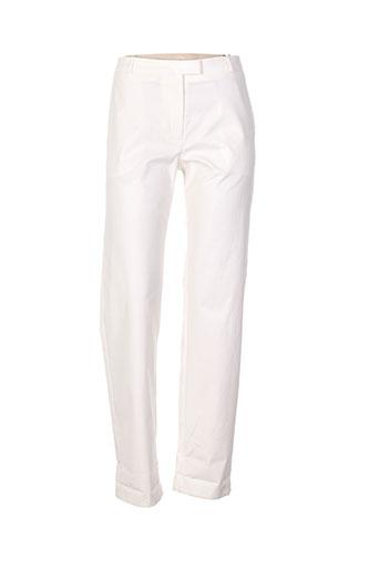 bruuns bazaar pantalons femme de couleur blanc
