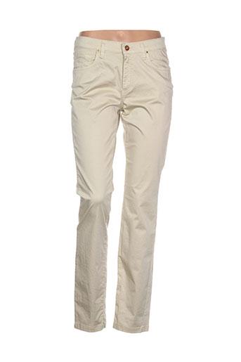 lcdn pantalons femme de couleur beige