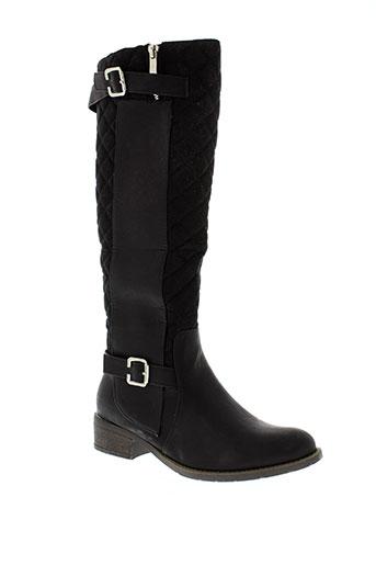 creamy et moda bottes femme de couleur noir