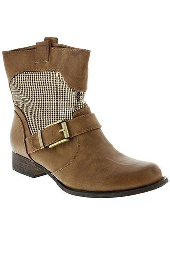 ella et lux boots femme de couleur marron