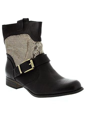 ella et lux boots femme de couleur noir
