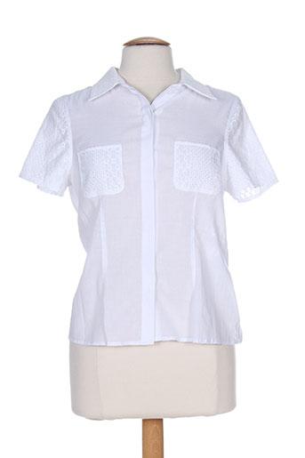 k'tendances chemises femme de couleur blanc