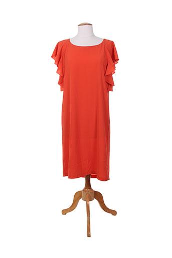 akoz de toi robes femme de couleur orange
