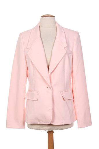 attentif vestes femme de couleur rose