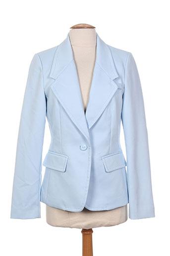 attentif vestes femme de couleur bleu