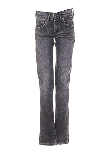pepe jeans jeans fille de couleur noir