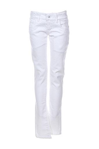 pepe jeans jeans fille de couleur blanc