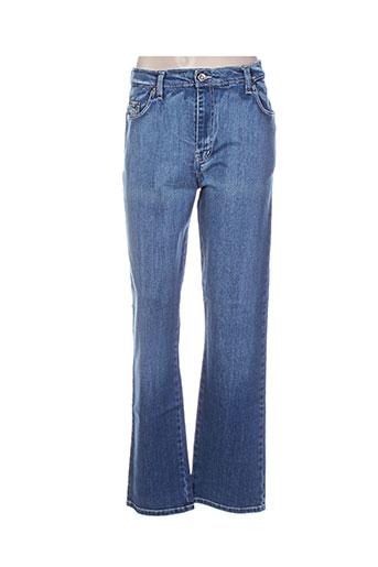 impaqt jeans femme de couleur bleu