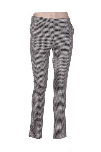 crazy wool pantalons femme de couleur noir