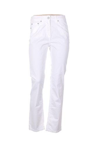 rouge et bleu pantalons femme de couleur blanc