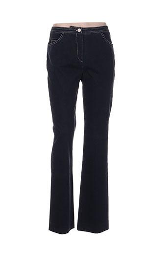bernard zins pantalons femme de couleur bleu
