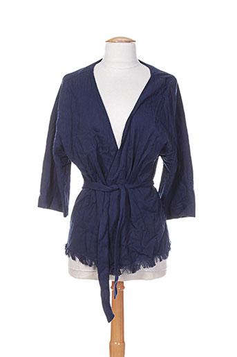 Veste casual bleu NICE THINGS pour femme